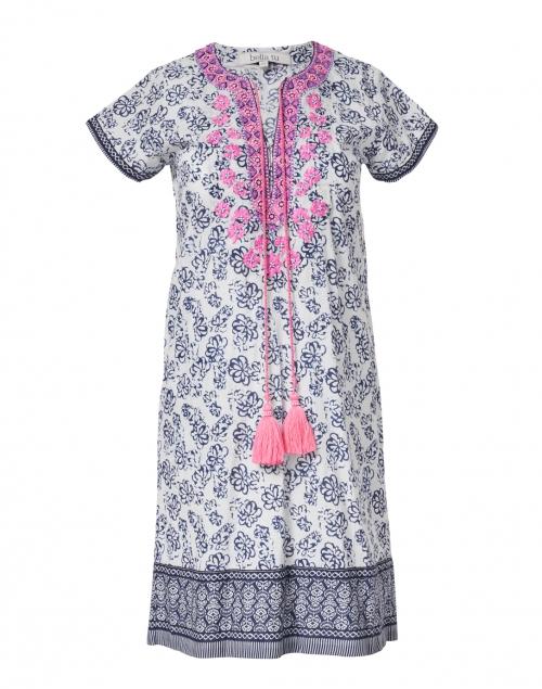 Bella Tu - Erin Indigo Floral Printed Cotton Dress