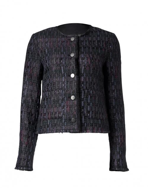 Ecru - Black Multi Lurex Tweed Jacket
