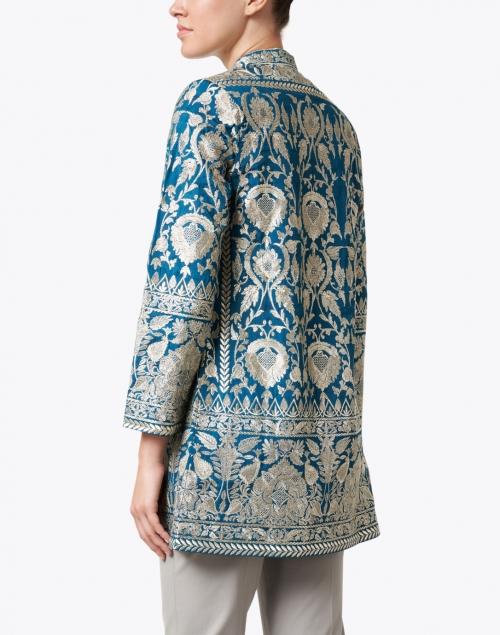 Bella Tu - Selena Teal Embroidered Jacket