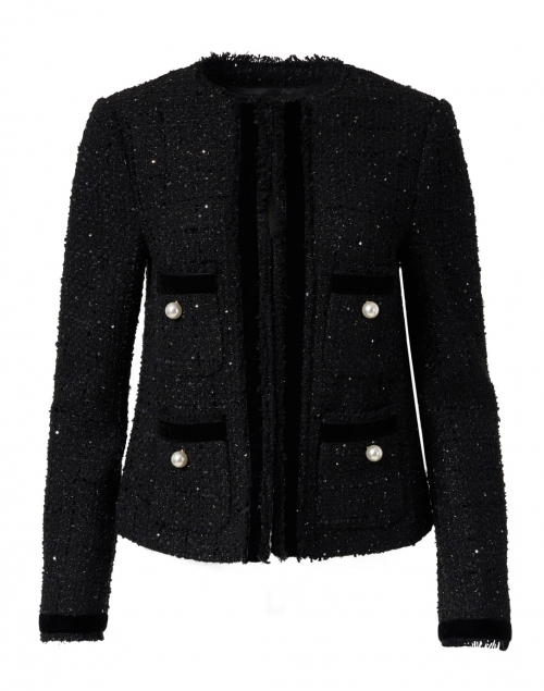 L.K. Bennett - Sparkle Black Tweed Lurex Jacket