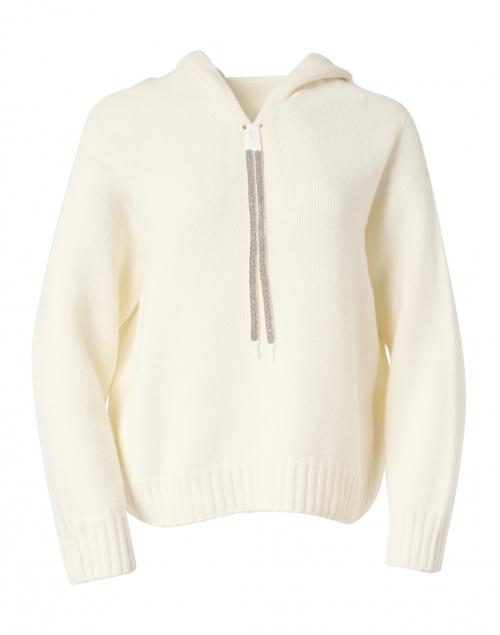 Fabiana Filippi Ivory Wool and Silk Hooded Sweater