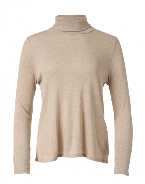 Eileen Fisher Wheat Ribbed Pima Cotton Top