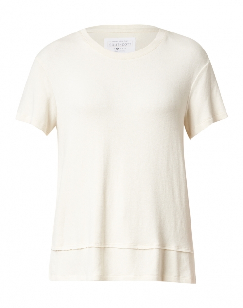 Southcott - Clifton Pearl Ivory Cotton and Modal Tee