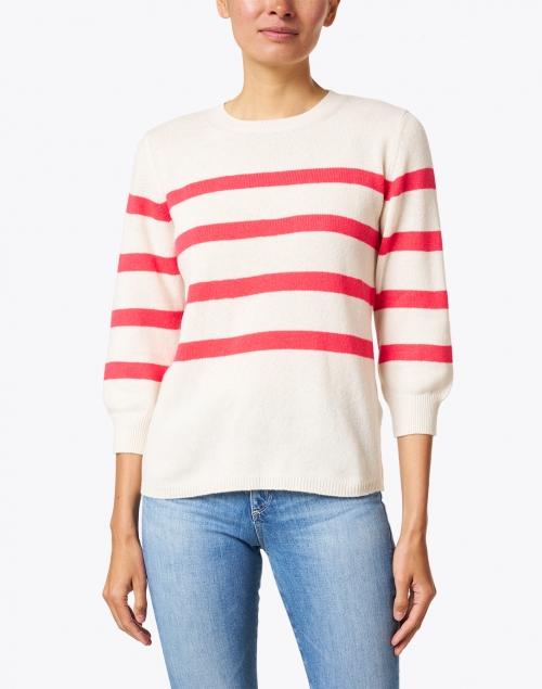 A.P.C. - Lizzy Ecru and Red Striped Cotton Sweater