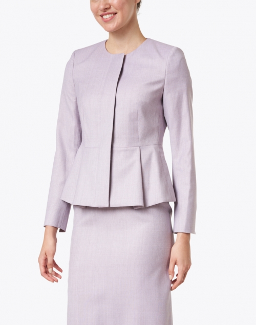 BOSS Hugo Boss - Jatoba Light Rose Wool Peplum Jacket