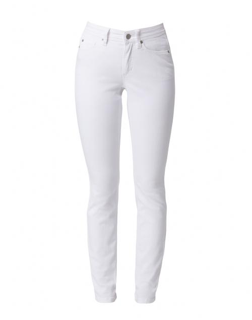 Cambio Parla White Stretch Denim Jean