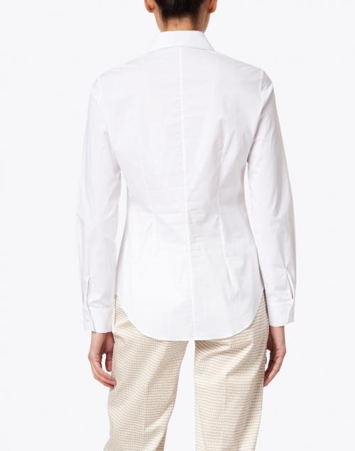 Piazza Sempione - White Stretch Cotton Poplin Shirt