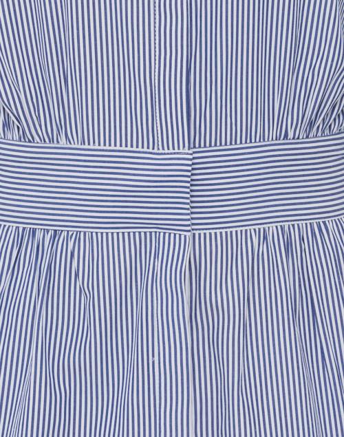Gretchen Scott - Breezy Blouson Navy and White Striped Shirt Dress