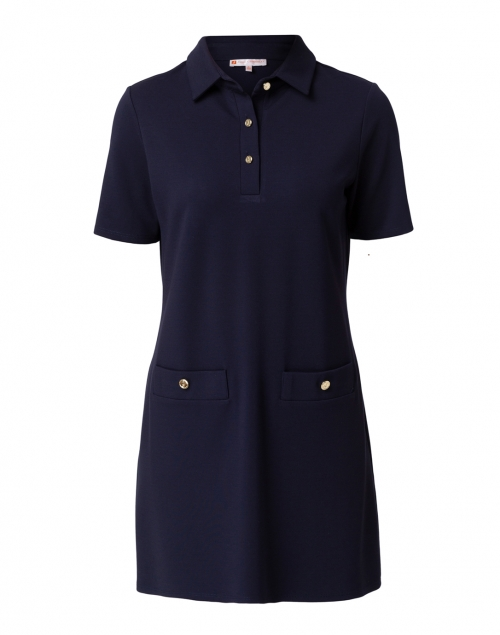 Jude Connally - Penny Navy Ponte Polo Dress