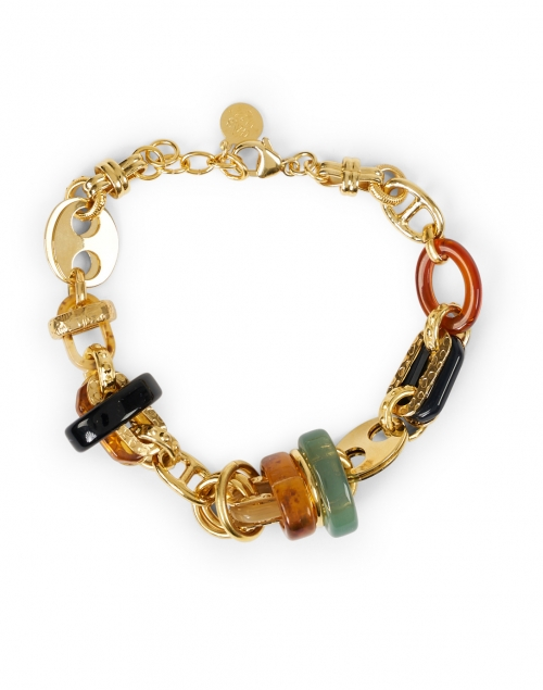 Gas Bijoux Prato Gold and Resin Chain Bracelet