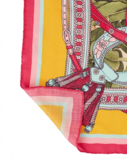 Rani Arabella - Melon and Raspberry Saddle Printed Silk Cashmere Scarf