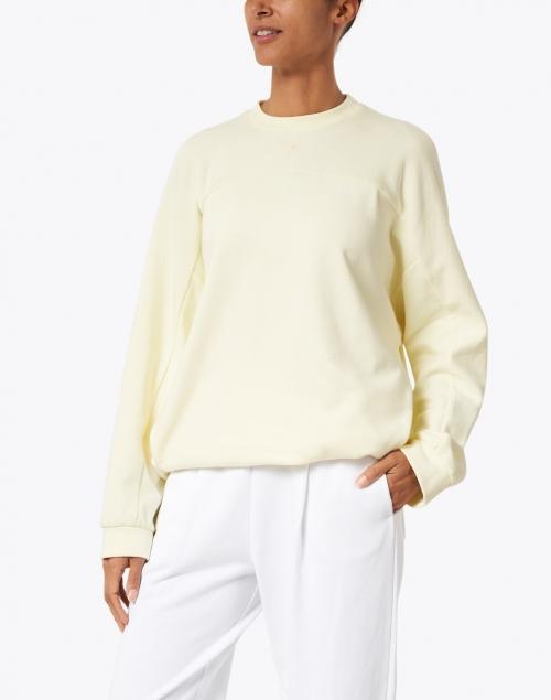 Max Mara Leisure - Frine Yellow Plush Cotton Sweatshirt