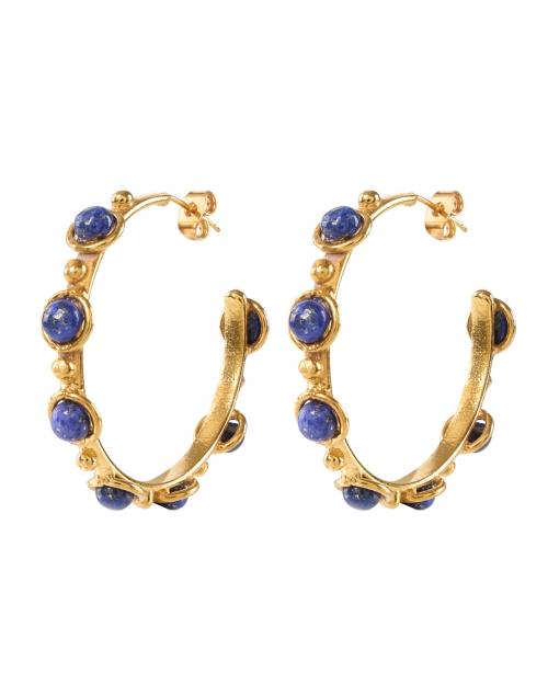 Sylvia Toledano Mini Lapis Studded Hoop Earrings