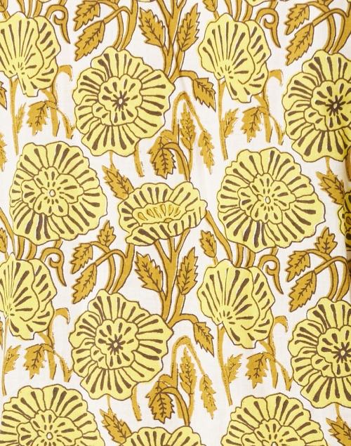 Ro's Garden - Deauville Citron Floral Print Shirt Dress