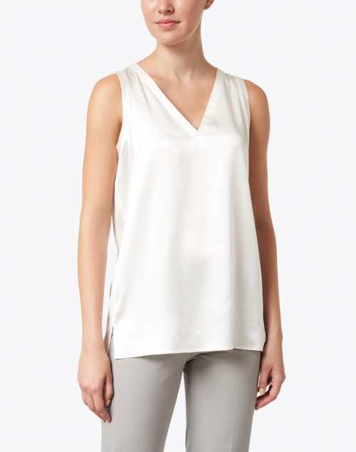 Lafayette 148 New York - Gretchen Ivory Silk Charmeuse Shell