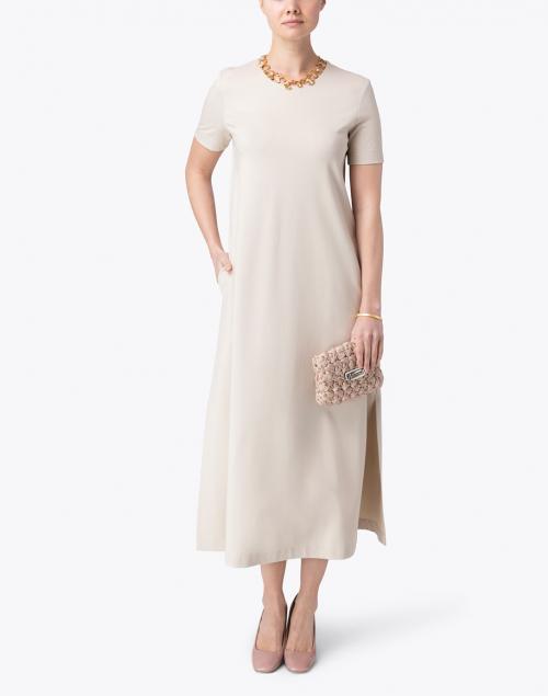 Harris Wharf London - Tan Techno Viscose Maxi Dress