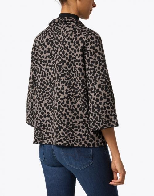 J'Envie - Putty Beige Dot Printed Viscose Swing Jacket