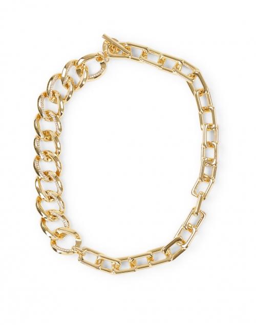 Max Mara Studio Tortona Gold Asymmetrical Chain Link Necklace