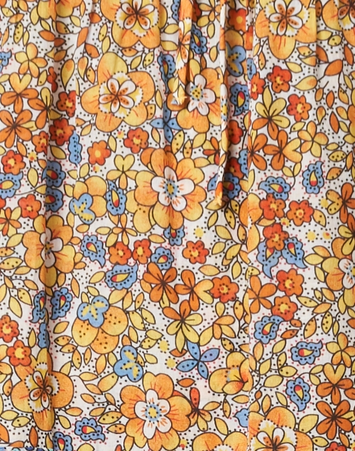 Warm - Colonial Orange Floral Printed Maxi Dress