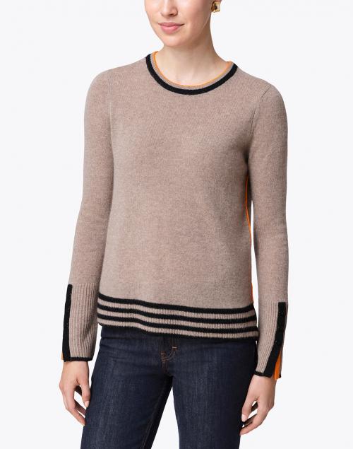 Lisa Todd - Up Your Sleeve Hazelnut Cashmere Sweater