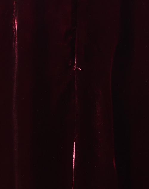 Jane -  Margerie Burgundy Velvet Midi Dress