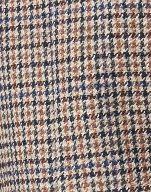 Weekend Max Mara - Douglas Beige, Navy and Orange Houdstooth Wool