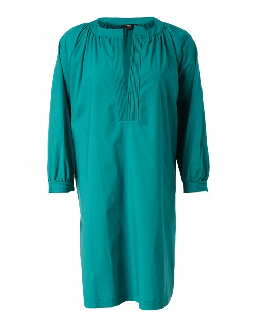 Seventy Green Stretch Cotton Poplin Dress