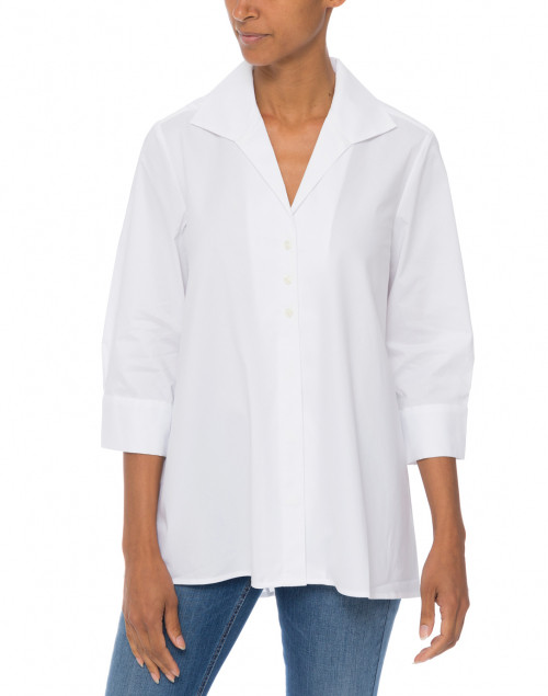 Hinson Wu - Betty White Button Down Stretch Cotton Shirt