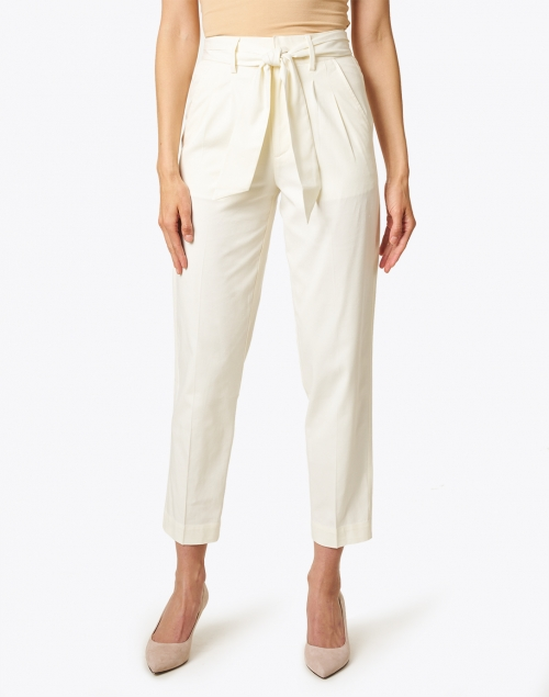 Brochu Walker - Andrei White Belted Stretch Cotton Pant