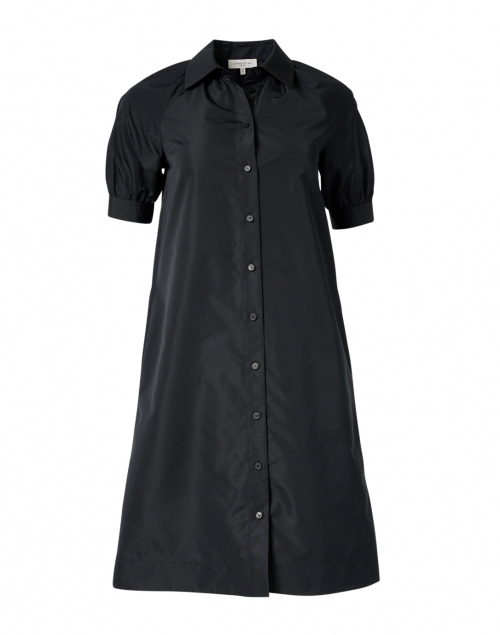 Lafayette 148 New York Brennan Black Taffeta Shirt Dress