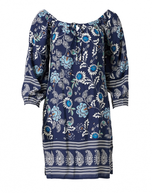 Walker & Wade - Navy Paisley Print Shift Dress