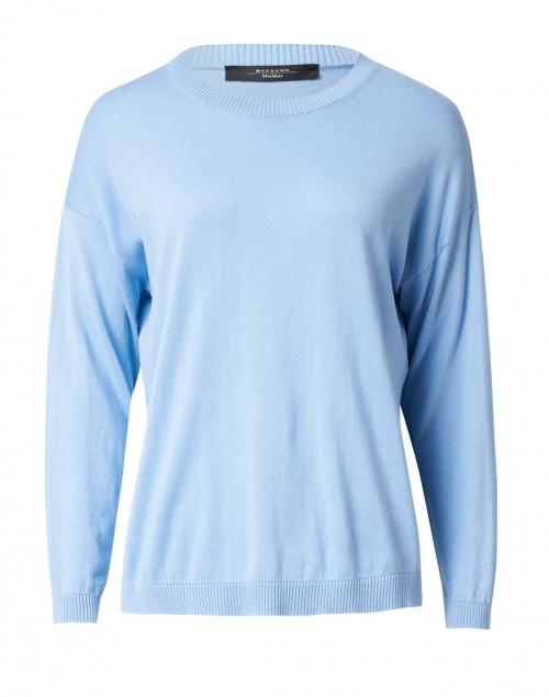 Weekend Max Mara - Sibari Blue Silk Cotton Sweater