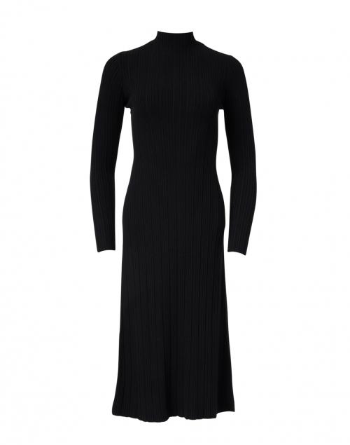 Vince - Black Ribbed Knit Dress
