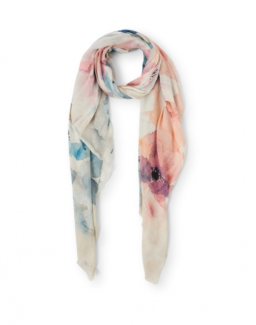 Tilo - Stunning Pink and Blue Floral Modal Scarf