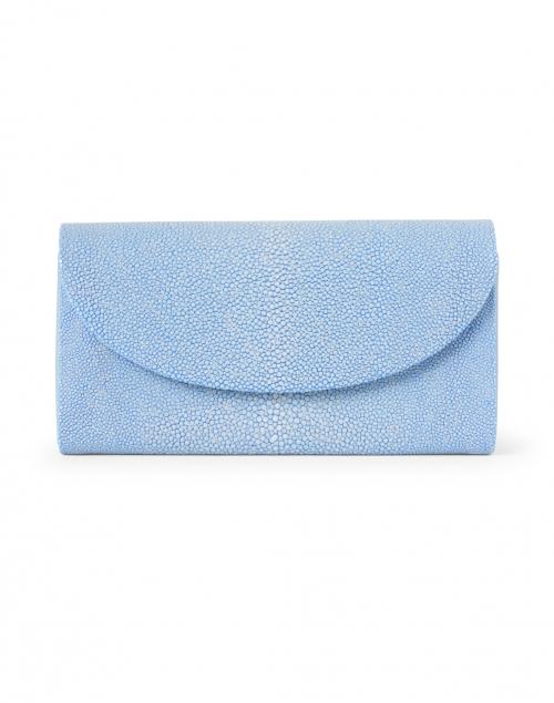 J Markell Baby Grande Slate Blue Stingray Clutch
