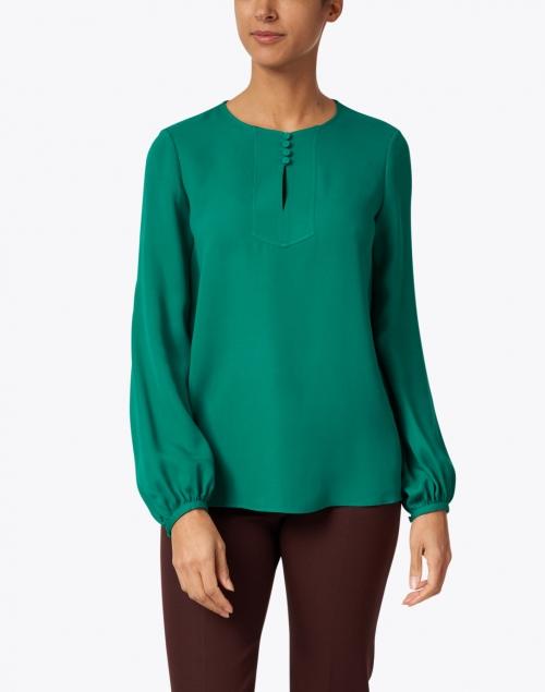 Lafayette 148 New York - Kaden Green Silk Blouse