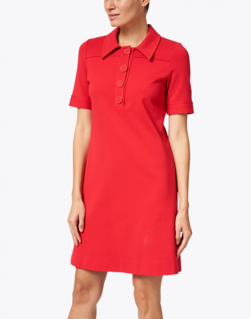 Goat - Lula Raspberry Jersey Polo Dress