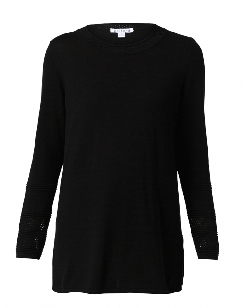 Belford - Black Cotton Tunic Sweater