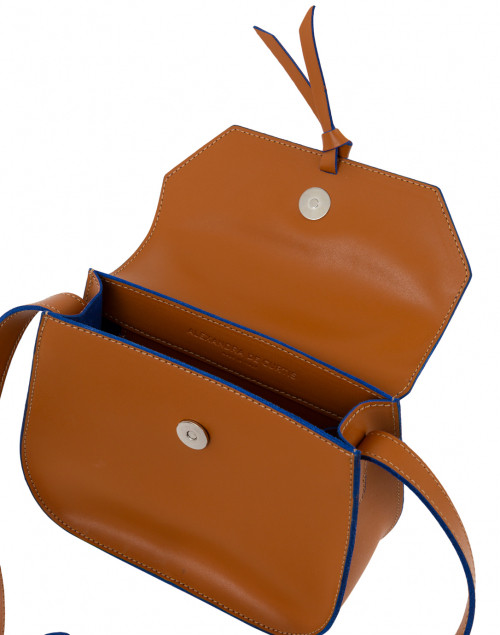 Alexandra de Curtis - Mini Cognac Leather Saddle Bag