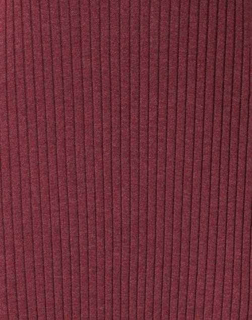 Repeat Cashmere - Bordeaux Ribbed Knit Cotton Dress