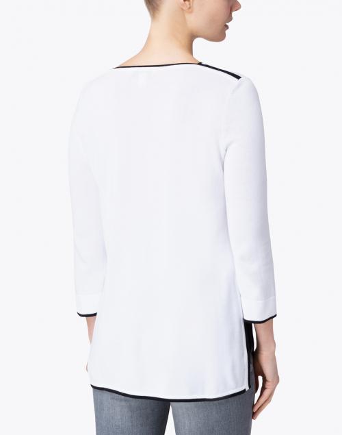 Belford - White Cotton Tunic Sweater