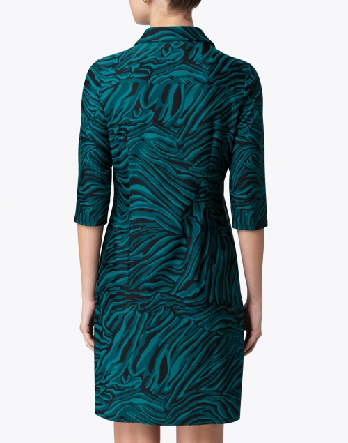 Jude Connally - Sloane Green Zebra Printed Henley Dress