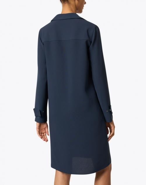 Lafayette 148 New York - Graceton Ink Navy Crepe Dress