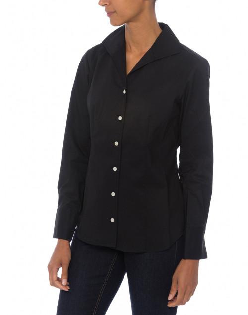 Hinson Wu - Donna Black Button Down Stretch Cotton Shirt