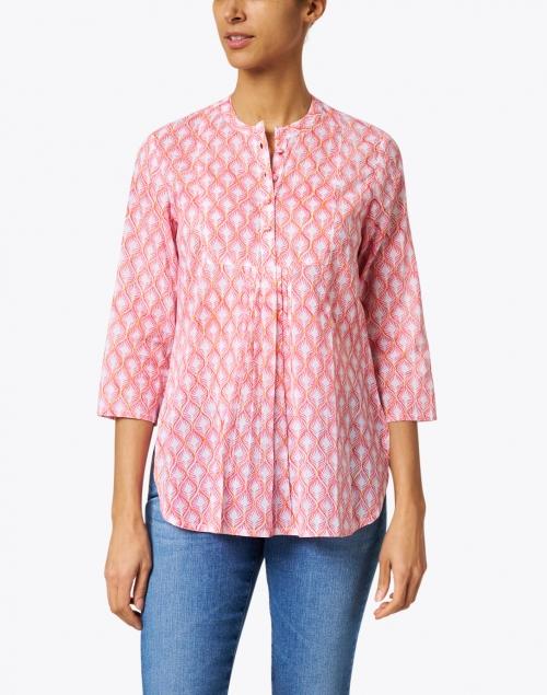 Ro's Garden - Dixie Pink Leaf Print Cotton Top