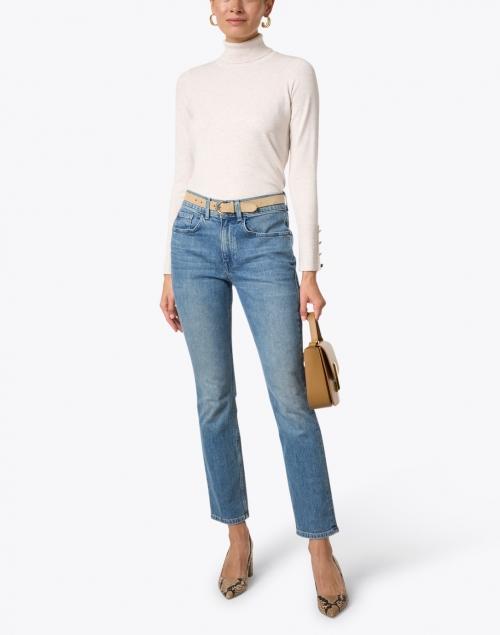 J'Envie - Oatmeal Stretch Turtleneck Sweater