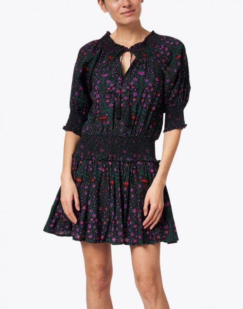 Roller Rabbit - Favela Pink, Black and Green Rhone Print Dress