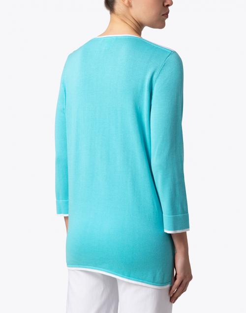 Belford - Blue Cotton Tunic Sweater