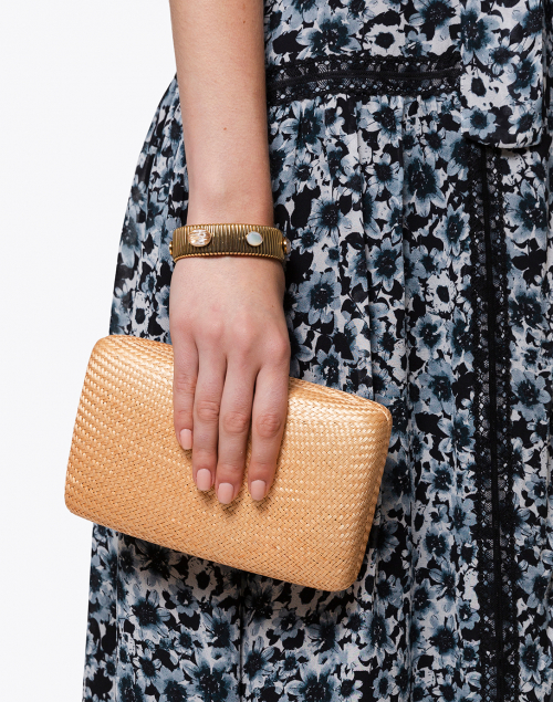 Kayu - Jen Natural Straw Clutch