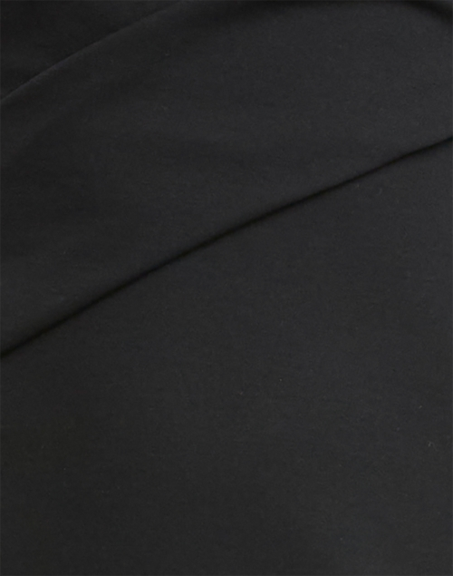 Emporio Armani - Black Ruched Jersey Dress